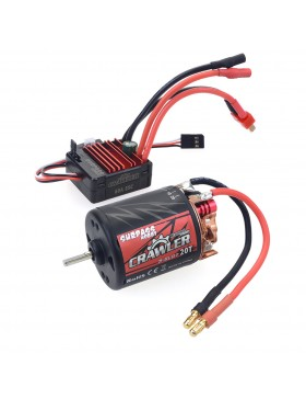 Crawler 5-Slot 540 brushed motor  with 60A brushed ESC combo set