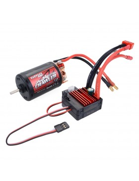 Crawler 5-Slot 550 brushed motor  with 80A brushed ESC combo set