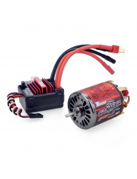 Crawler 5-slot 540PLUS brushed motor with 80A PLUS brushed ESC combo set